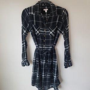 3/$20 Merona plaid flannel shirt dress